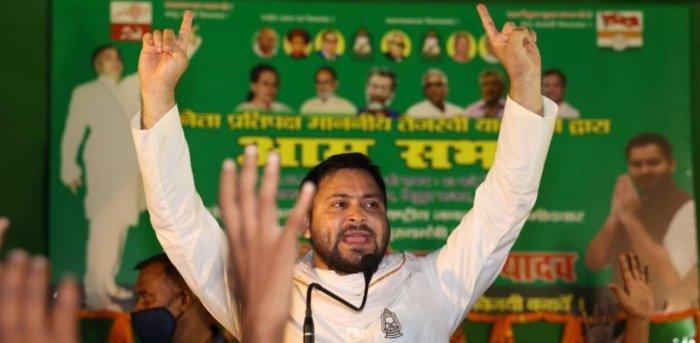 RJD leader Tejashwi Yadav. Credit: PTI