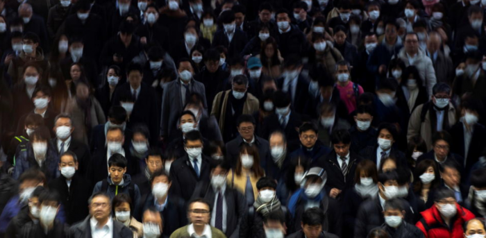Crowds wearing protective masks, during the coronavirus disease (COVID-19) outbreak, are seen at Shinagawa station in Tokyo, Japan, March 2, 2020. Credit: Reuters Photo