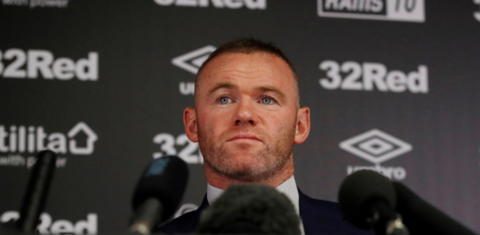 Derby County's Wayne Rooney during the press conference. Credit: Reuters File Photo