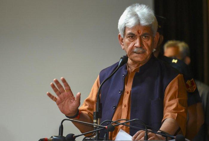 Jammu and Kashmir Lieutenant Governor Manoj Sinha. Credit: PTI