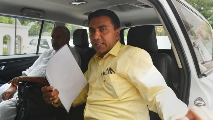 Goa CM Pramod Sawant. Credit: PTI file photo.