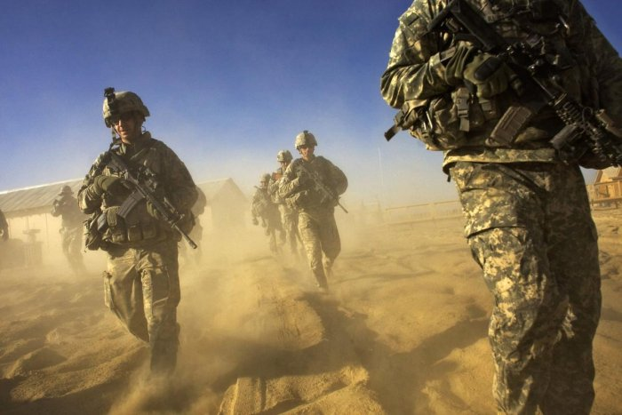 US Army soliders on a patrol in Paktika province, situated along the Afghan-Pakistan border. Credit: AFP