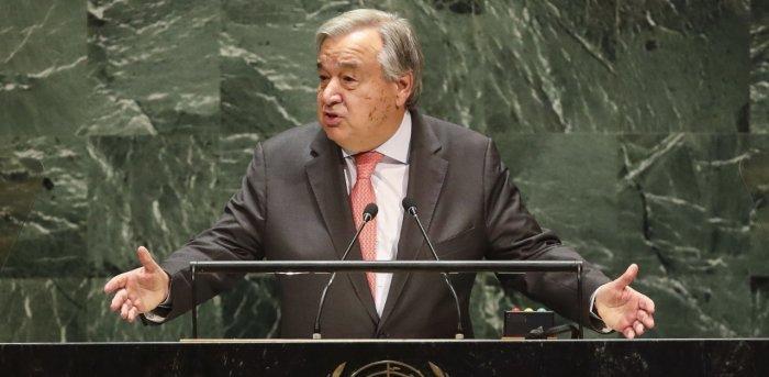 UN Secretary-General Antonio Guterres. Credit: AFP Photo