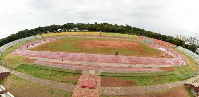 A view of Chamundi Vihar Stadium in Mysuru. Credit: DH file photo.
