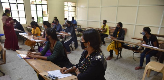 Results of the tests began to arrive from Friday and six staff members from three colleges in the city have tested Covid-19 positive. Credit: DH Photo/ Janardhan B K