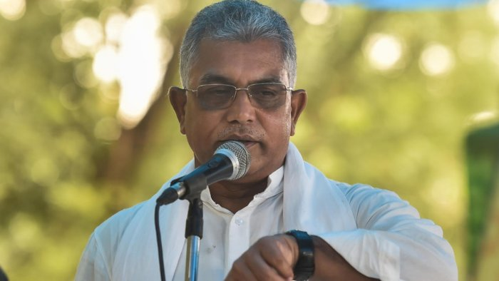 West Bengal BJP president Dilip Ghosh said that his party had no faith in the state police as it would hush up the case. Credit: PTI file photo.