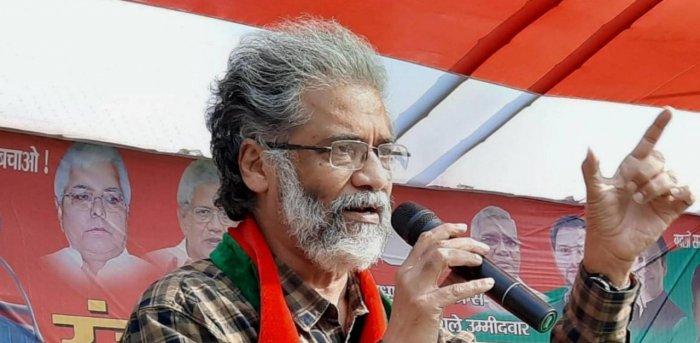 CPI(ML) general secretary Dipankar Bhattacharya. Credit: PTI file photo.