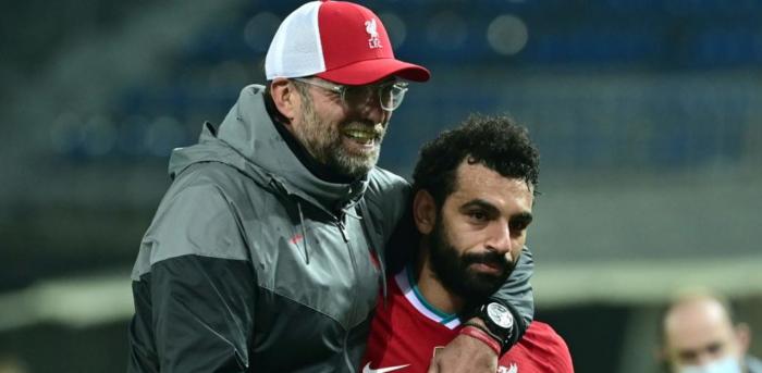 Liverpool's German manager Jurgen Klopp (L) with Liverpool's Egyptian midfielder Mohamed Salah. Credit: AFPN Photo