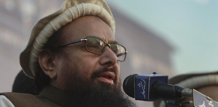 The 70-year-old JuD chief was sentenced to 10 years of imprisonment in two terror cases by ATC Lahore on Thursday. Credit: AP/PTI file photo.