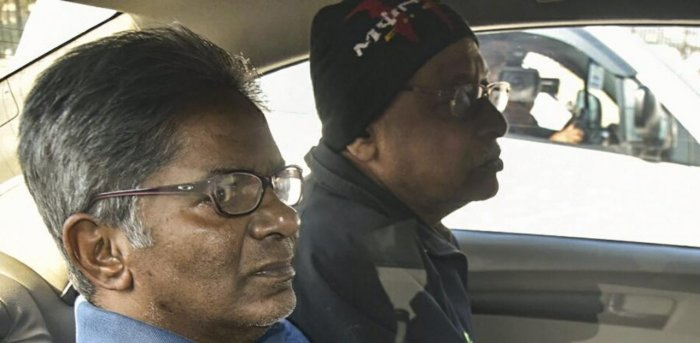 Rajiv Saxena (Left) is a key accused in the case. Credit: PTI file photo.