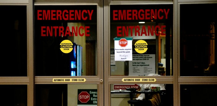 A view shows the entrance to the emergency room of Avera St. Luke's Hospital as the coronavirus disease. Credit: Reuters Photo