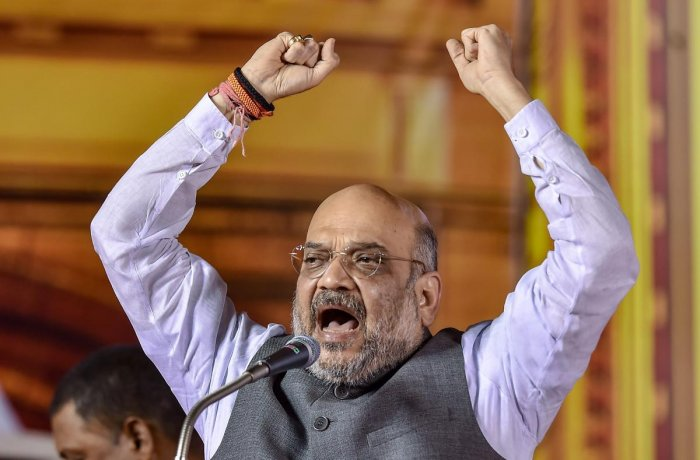 Union Home Minister and top BJP leader Amit Shah. Credit: PTI