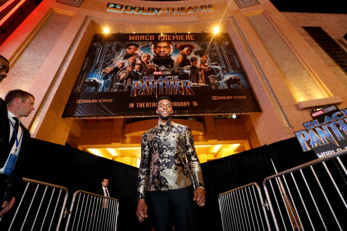 """Chadwick Boseman poses at the premiere of """"Black Panther"""". Credit: Reuters file photo"""