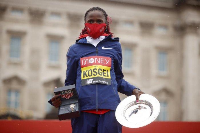 Kenya's Brigid Kosgei. Credit: Reuters file photo