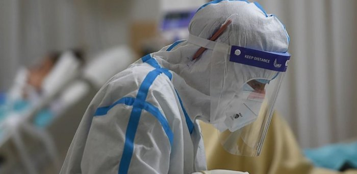 A medical staff works inside an intensive care unit for Covid-19 coronavirus patients at Max Hospital in New Delhi on November 21, 2020. Credit: AFP Photo