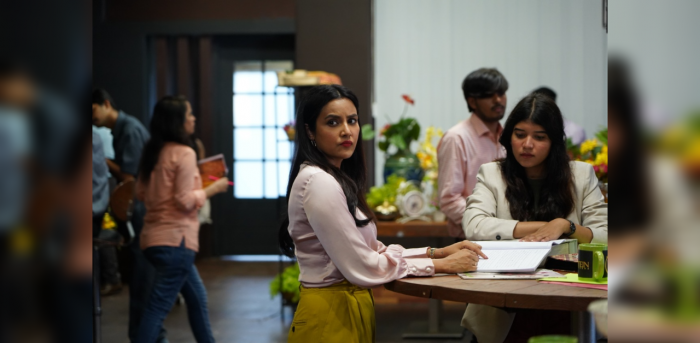 Priya Anand in a still from 'A Simple Murder'. Credit: SonyLiv