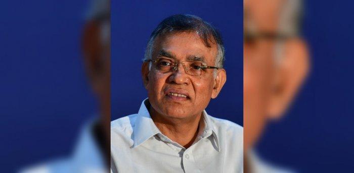 Bengaluru University Vice Chancellor Dr K R Venugopal. Credit: DH Photo/Anand Bakshi.