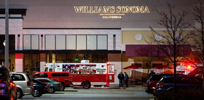 Emergency personnel work at the scene of a shooting at the Mayfair shopping mall in Wauwatosa, Wisconsin. Credit: Reuters Photo