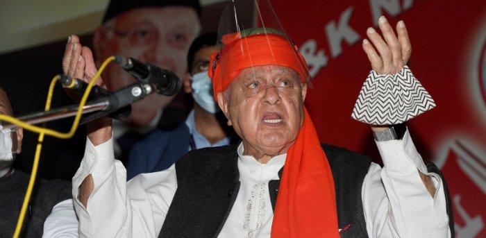 Former J&K CM Farooq Abdullah. Credit: PTI Photo