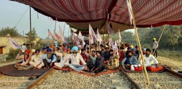 The train services in Punjab have been suspended since September 24 due to farmers' protests. Credit: PTI file photo