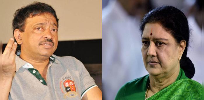 Ram Gopal Varma (R) and Sasikala (L).