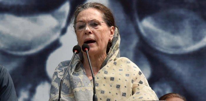 Congress president Sonia Gandhi. Credit: PTI Photo