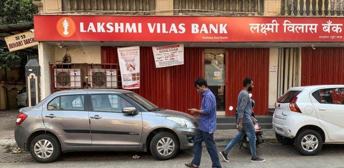 Lakshmi Vilas Bank branch in Mumbai. Credit: Reuters Photo
