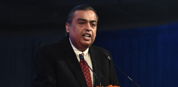 RIL's valuation tumbled Rs 69,378.51 crore to Rs 12,84,246.18 crore. Credit: Reuters Photo