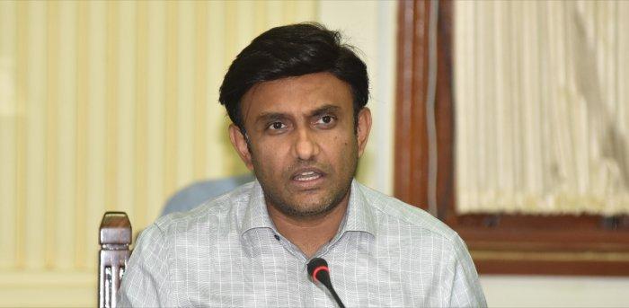 Health Minister K Sudhakar. Credit: DH Photo
