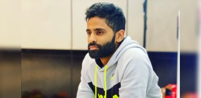 Suryakumar Yadav is anguished beyond words after being overlooked for the tour of Australia. Credit: Twitter Photo/@surya_14kumar