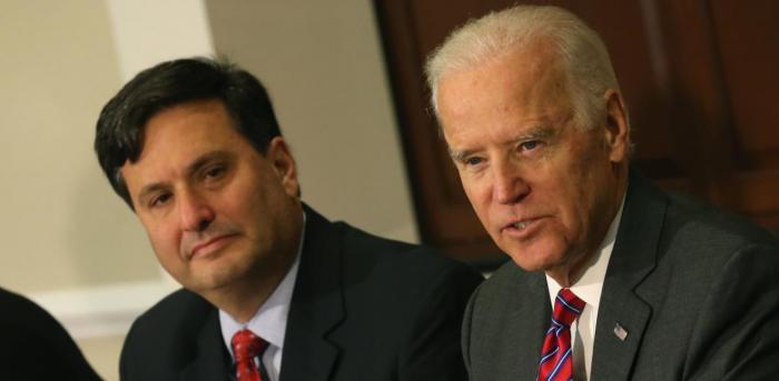 Chief of Staff Ronald Klain and President-elect Joe Biden. Credit: AFP Photo