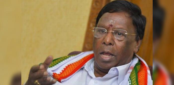 Puducherry Chief Minister V. Narayanasamy. File Photo.