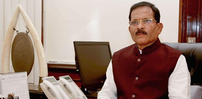 Minister of State (Independent Charge) of the Ministry of Ayurveda, Yoga and Naturopathy, Unani, Siddha and Homoeopathy (AYUSH); and Minister of State in the Ministry of Defence Shripad Yesso Naik. Credit: PTI Photo