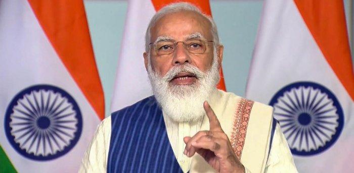 Prime Minister Narendra Modi. Credit: PTI/Twitter Photo