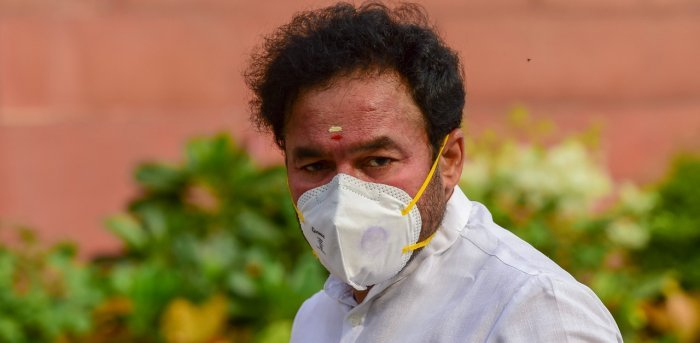 Minister of State for Home Affairs G Kishan Reddy. Credit: PTI Photo