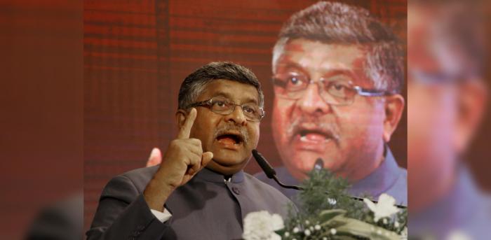 IT and Telecom Minister Ravi Shankar Prasad. Credit: PTI Photo