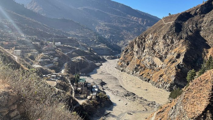 This general view shows state-run NTPC hydropower project site damaged after a broken glacier caused a major river surge that swept away bridges and roads, near Joshimath in Chamoli district of Uttarakhand. Credit: AFP Photo.