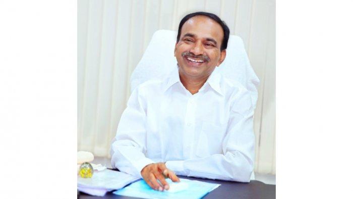 Health Minister Eatala Rajender's portfolio was transferred to Telangana Chief Minister K Chandrasekhar Rao on Saturday. Credit: Twitter Photo/@Eatala_Rajender