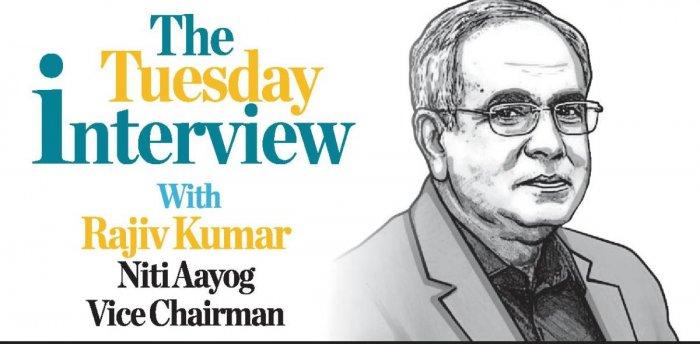 Rajiv Kumar, Vice Chairman, Niti Aayog. Credit: DH Illustration