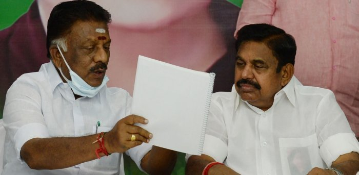 OPS-EPS step in to douse fire stoked by AIADMK leader blaming BJP for  election defeat   Deccan Herald