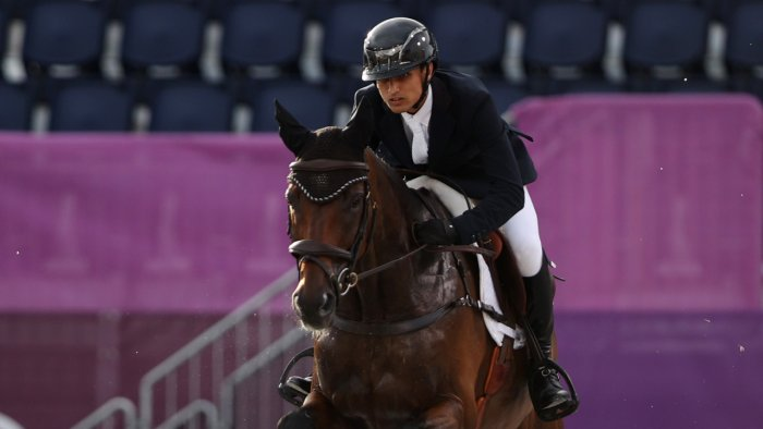 Fouaad Mirza of India on his horse Seigneur. Credit: Reuters Photo