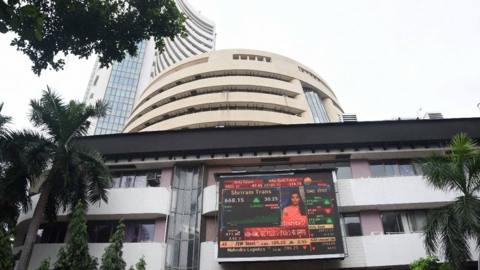 The 30-share BSE index ended 872.73 points or 1.65 per cent higher at its lifetime high of 53,823.36. Credit: PTI Photo