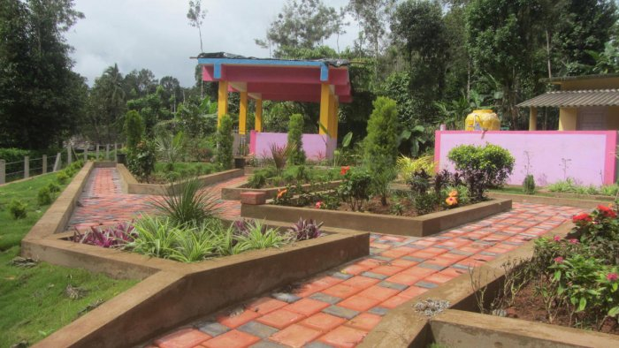 A park in front of the anganwadi centre in Nelaji village.