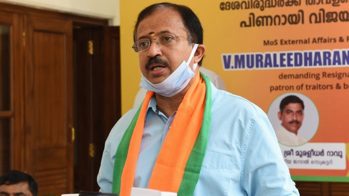 Minister of State for External Affairs V Muraleedharan. Credit: PTI File Photo