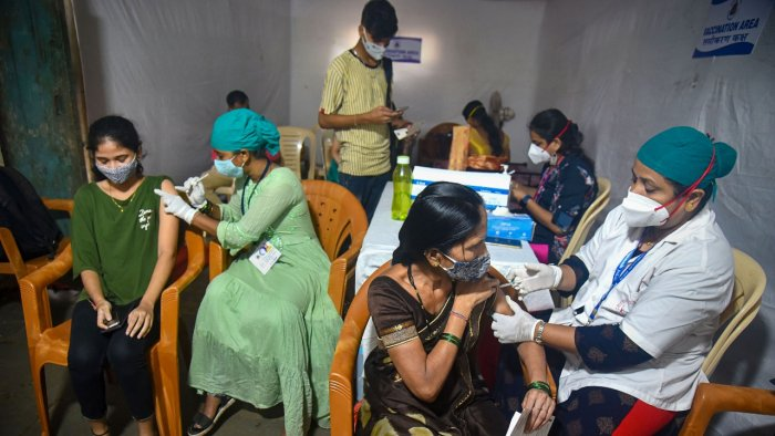 Women have received about 47% of the 48.1 core vaccine doses administered in India. Credit: PTI Photo