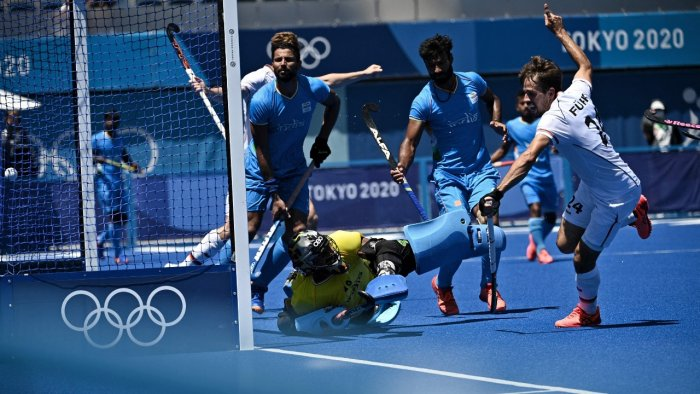 India defeated a plucky Germany 5-4 to claim the bronze. Credit: AFP Photo