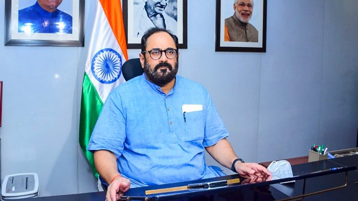 Minister of State for Electronics and IT Rajeev Chandrasekhar. Credit: PTI File Photo