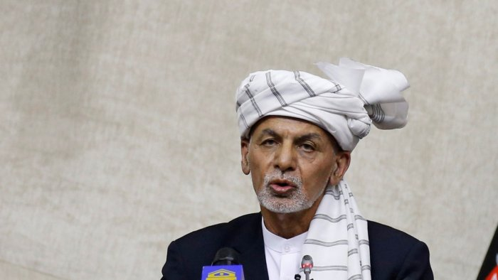Ghani speaks at the parliament in Kabul. Credit: Reuters Photo