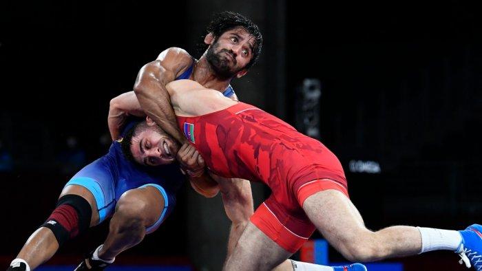 Indian wrestler Bajrang Punia. Credit: Reuters Photo
