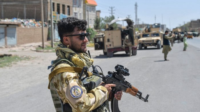 An Afghan National Army commando stands guard. Credit: AFP Photo
